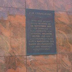 image de Plakette in der Rheinstrasse
